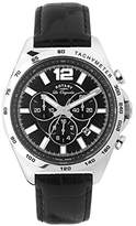 Rotary Men's gs90070/04 Analog Display Swiss Quartz Black Watch
