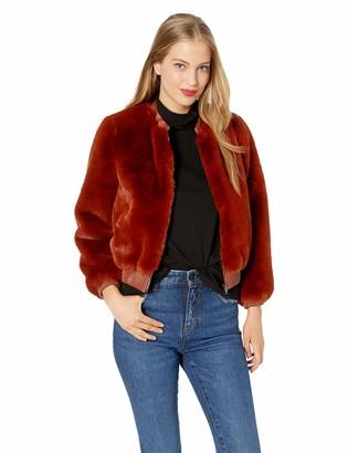 ASTR the Label Women's Frankie Faux Fur & Leather Short Bomber Jacket