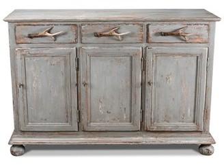 "Sarreid Ltd. 53"" Wide 3 Drawer Pine Wood Sideboard"