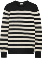 Saint Laurent Striped Cashmere Sweater - x large