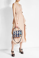 Fendi Silk Crepe Dress with Ruffles