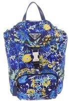 Prada Floral Drawstring Backpack