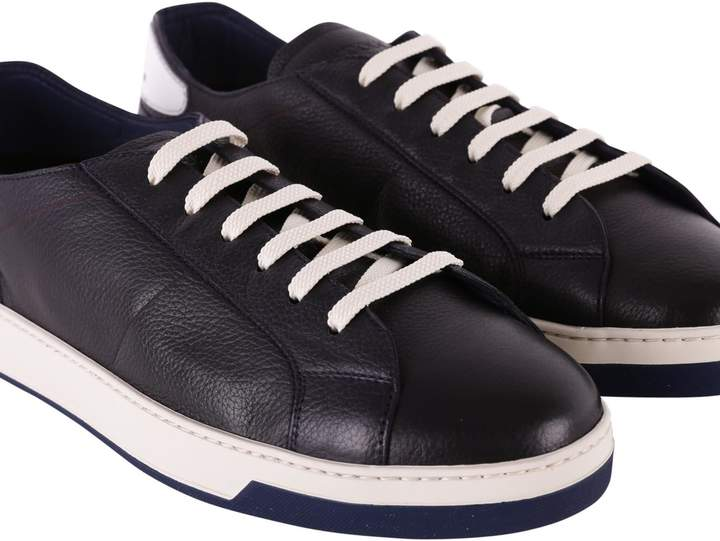 Doucal's Blend Leather Sneakers