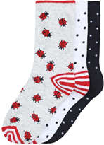 Joe Fresh Kid Girls' 3 Pack Casual Socks, Grey (Size 3-6)