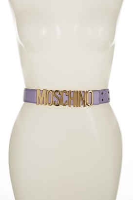Moschino Wide Leather Logo Belt