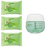Garnier Skincare Towelettes (Pack of 3) and Moisture Rescue Gel-Cream