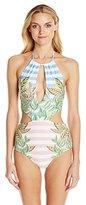 Mara Hoffman Women's Wheatfield Slit-Front Monokini Swimsuit