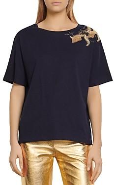 Sandro Ave Applique T-Shirt