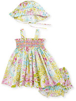 Luli & Me Floral 3-Piece Smocked Dress Set, Multi, Size 3-24 Months