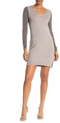 Club Monaco Tycia Colorblock Long Sleeve Sweater Dress