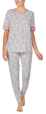 Cuddl Duds Llama-Print Pajama Set