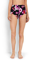Lands' End Women's Retro High Waist Bikini Bottoms-Black