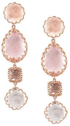 Larkspur & Hawk Sadie 4 drop multi peach earrings