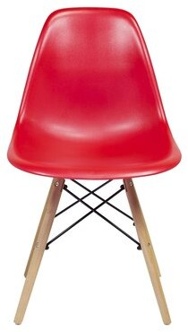 Wrought StudioTM Fremont Mid-Century Modern Retro Dining Chair Wrought Studio Color: Red