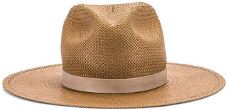 Janessa Leone Adriana Packable Hat in Brown | FWRD
