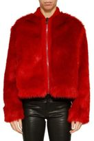 Giamba Cropped Furry Jacket