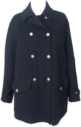 Henry Cotton Blue Wool Coat for Women