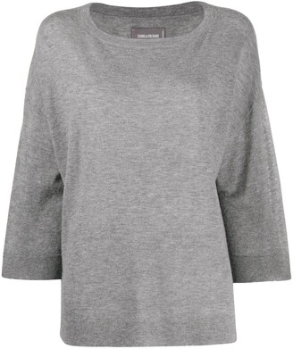 Zadig & Voltaire Oversized Star Patch Jumper