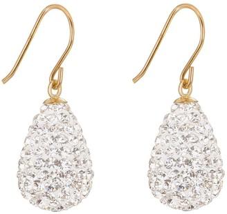 9ctYellow Gold Crystal Teardrop Bomb Earrings