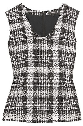 Theory Sculpted Tweed Peplum Top
