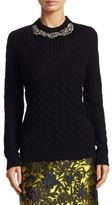Erdem Elise Embellished Wool Sweater