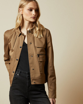 Ted Baker CABAX Cropped boxy trench jacket