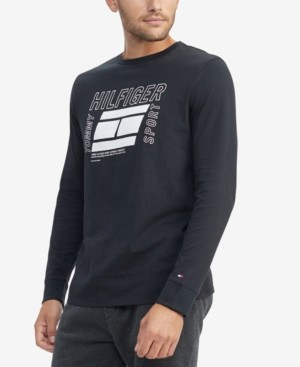 Tommy Hilfiger Men's Long-Sleeve Logo T-Shirt