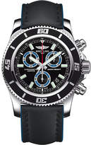 Breitling Superocean Stainless Steel And Leather Chronograph Watch