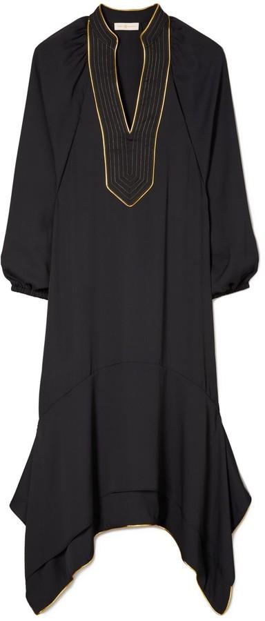 Tory Burch Puffed-Sleeve Tunic Dress
