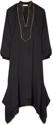 Tory Burch Puffed-Sleeve Tunic Dress