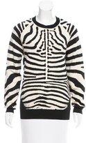 A.L.C. Zebra Patterned Oversize Sweater