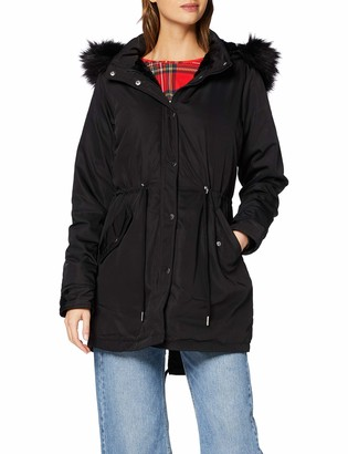 Urban Classics Women's Ladies Faux Fur Parka Coat