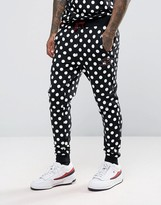 House of Holland x Umbro Skinny Joggers With All Over Polka Dots