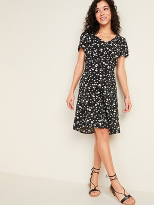 Old Navy Fit & Flare V-Neck Dress for Women