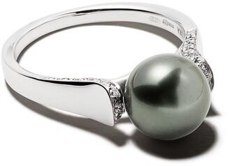 Yoko London 18kt white gold Classic Tahitian pearl and diamond ring