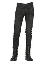 Gareth Pugh 17cm Wool Crepe Stretch Denim Jeans