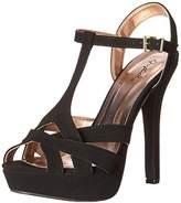 Qupid Women's Gaze-445 Platform Dress Sandal