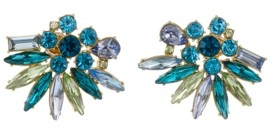 Christian Siriano New York Gold Tone Cluster Button Earrings