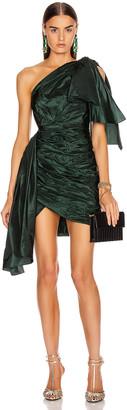 Oscar de la Renta Cocktail Mini Dress in Forest | FWRD