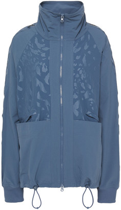 adidas by Stella McCartney Paneled Printed Shell Track Jacket