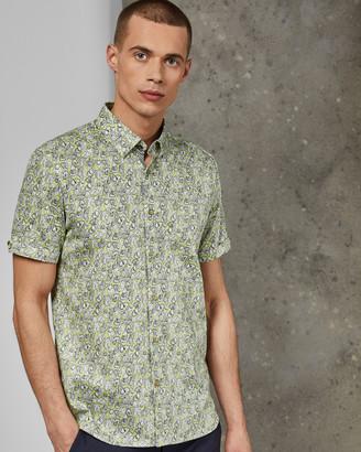 Ted Baker BUFFILO Cotton botanical shirt