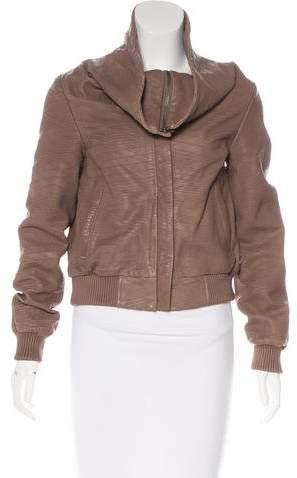 AllSaints Textured Leather Jacket