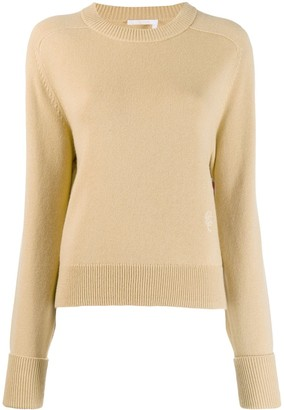 Chloé cashmere embroidered logo knitted sweater