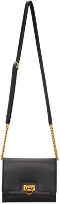 Salvatore Ferragamo Black Small Trifolio Shoulder Bag