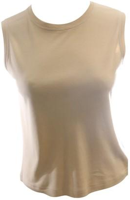 Hermes Beige Cotton Top for Women Vintage