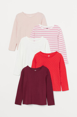 H&M 5-pack Jersey Tops - Red