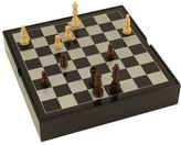 Bey-Berk Lacquered Wood Multi Game Set
