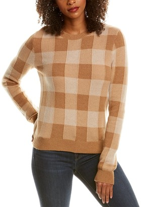 Theory Plaid Silk & Cashmere-Blend Pullover