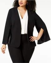 Nine West Plus Size Split-Sleeve Blazer