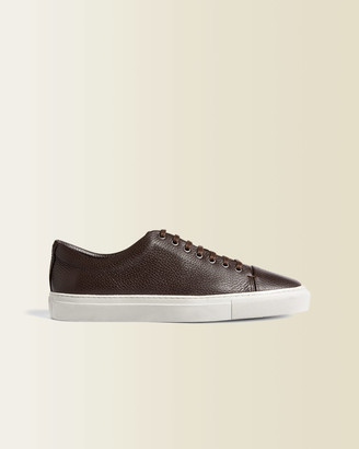 Jigsaw Campbell Grain Leather Trainers